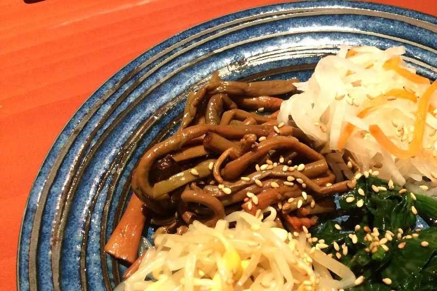 Japanese good foods Okayama Kurashiki touen namul