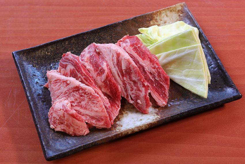 Japanese good foods Okayama Kurashiki touen nakaochi karubi